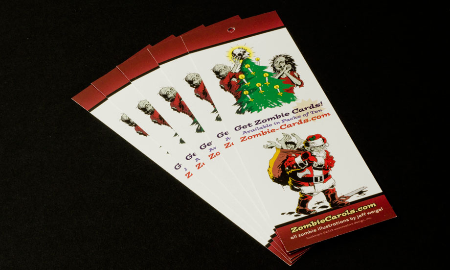 Zombie Christmas Cards Promotional Swag Ornament Fan Front ...